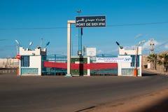 口岸在Sidi Ifni,摩洛哥 库存照片
