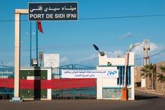 口岸在Sidi Ifni,摩洛哥 免版税库存图片