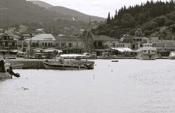 口岸在Sivota镇 免版税库存图片