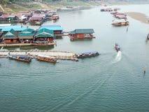 口岸客舱在农村Sangkla,泰国 免版税库存照片