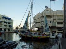口岸小游艇船坞Benalmadena MÃ ¡ laga安大路西亚-西班牙 免版税库存图片
