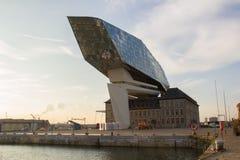 口岸房屋建设,安特卫普,比利时 免版税库存图片