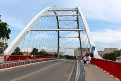口岸桥梁在Kolobrzeg在波兰 免版税库存图片