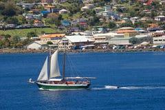 口岸海军陆战队员在托尔托拉岛,加勒比 库存图片
