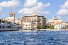 口岸的看法在哈瓦那,古巴 免版税库存图片