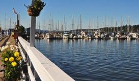 口岸的Hadlock,华盛顿小游艇船坞 图库摄影