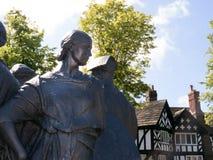 口岸阳光式样村庄的家,在1888年创造由他的阳光肥皂厂工作者的威廉Hesketh杠杆 免版税库存照片