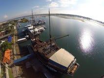 口岸巴厘岛船和巡航 免版税库存照片