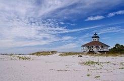 口岸Boca重创的灯塔 库存图片