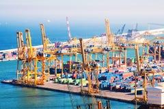 口岸de巴塞罗那-工业口岸。西班牙 库存照片