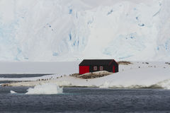 口岸Lockroy,根据A,遗产站点南极洲 免版税库存照片