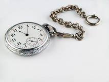 口袋银色手表 库存图片