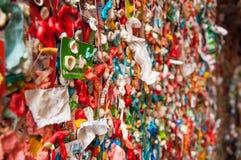 口香糖墙壁  免版税库存照片