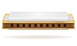 口琴风乐器储蓄传染媒介例证 库存例证
