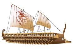 古代船希腊 库存照片