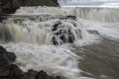古佛斯瀑布下跌冰岛 库存图片