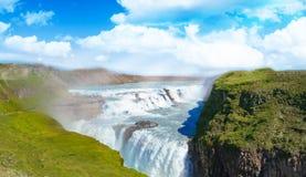 古佛斯瀑布在冰岛 库存图片