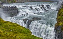 古佛斯瀑布瀑布冰岛HDR 库存照片