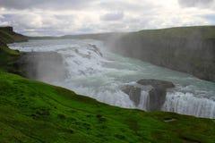 古佛斯瀑布瀑布,冰岛 免版税库存照片