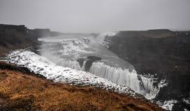 古佛斯瀑布瀑布,冰岛 免版税库存图片