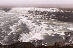 古佛斯瀑布瀑布,冰岛 库存图片