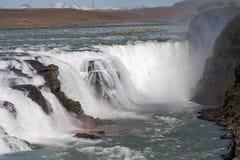 古佛斯瀑布- Wasserfall,海岛 免版税库存图片