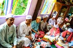 古兰经的毕业的仪式。 库存图片