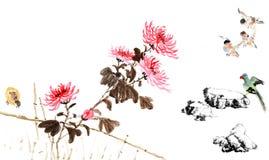 古典中国--自然,鸟 库存照片
