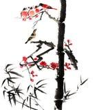 古典中国--花和鸟 库存照片
