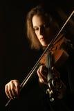 古典使用的小提琴小提琴手 库存照片