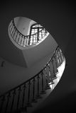 古典内部梯子来回寺庙 图库摄影
