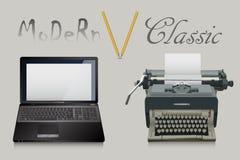 古典和现代文字 库存照片