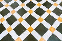古典大理石长菱形的路面 图库摄影