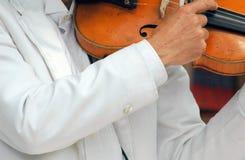 古典小提琴手 免版税库存照片