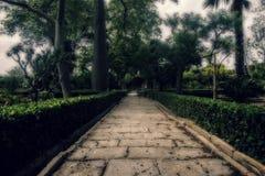 古典巴洛克式的庭院 免版税库存图片