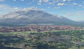 古典希腊语城市 库存照片