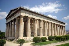 古典希腊语寺庙 免版税库存照片