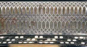 古典手风琴纹理 免版税库存照片