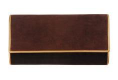 古典提包,上色黑色和褐色 库存图片