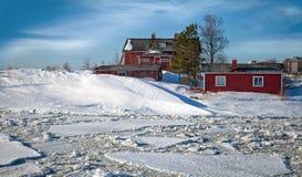 古典斯堪的纳维亚村庄 免版税图库摄影