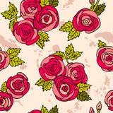 古典无缝的玫瑰色样式 库存图片