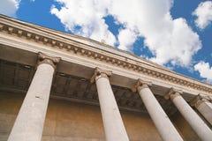 古典柱子,希腊建筑学 库存图片