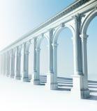 古典柱廊 库存例证