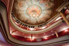 古典法国剧院 免版税图库摄影