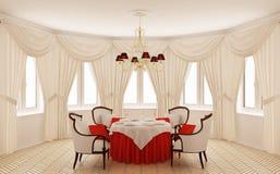 古典用餐的内部空间 免版税库存照片