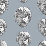 古典男性面具的无缝的背景 库存照片