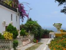 古典白色颜色豪宅在Barranco区,利马 库存图片