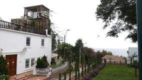 古典白色颜色豪宅在Barranco,利马 库存照片