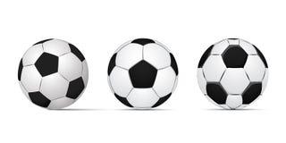 古典的足球,例证eps 10 图库摄影