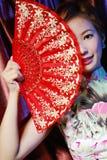 古典秀丽的东方妇女 库存图片